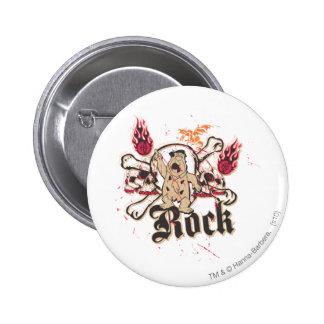 Fred Flintstone  Rock 6 Cm Round Badge