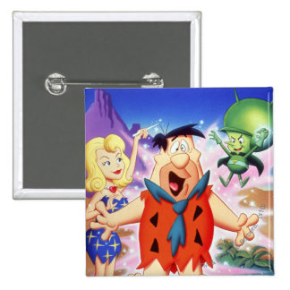 Fred Flintstone Under A Spell 15 Cm Square Badge