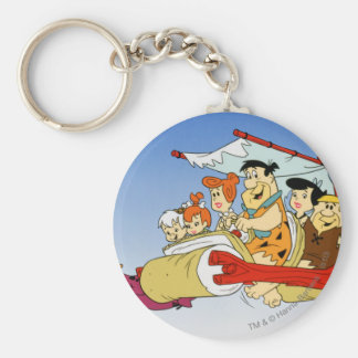 Fred Flintstone Wilma Barney and Betty PEBBLES™ Key Ring
