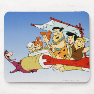 Fred Flintstone Wilma Barney and Betty PEBBLES™ Mouse Mat