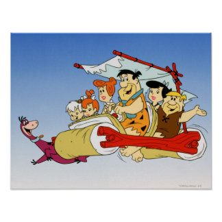 Fred Flintstone Wilma Barney and Betty PEBBLES™ Poster
