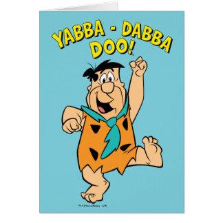 Fred Flintstone Yabba-Dabba Doo! Card
