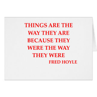 fred hoyle quote cards