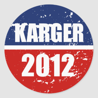 FRED KARGER 2012 STICKERS
