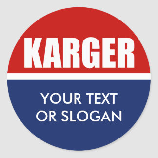 FRED KARGER 2012 ROUND STICKERS
