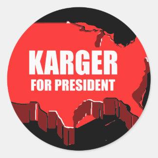 FRED KARGER 2012 ROUND STICKER