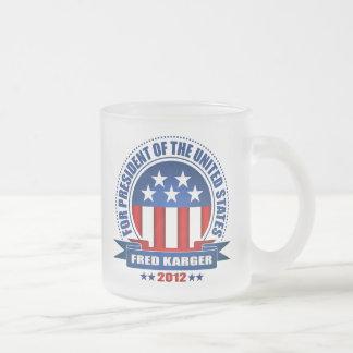 Fred Karger Frosted Glass Mug