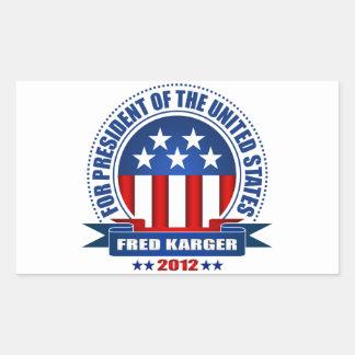 Fred Karger Rectangular Sticker