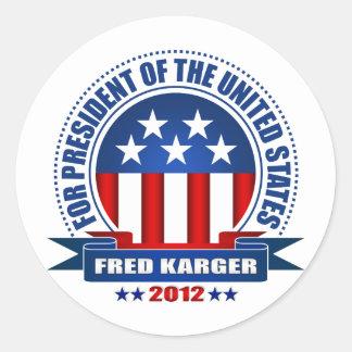 Fred Karger Round Sticker