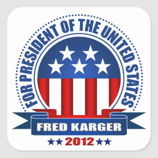 Fred Karger Square Sticker