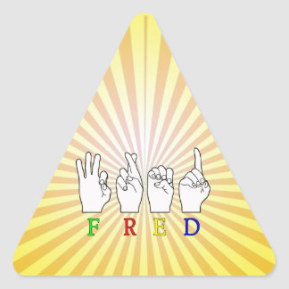 FRED   NAME ASL FINGER SPELLED STICKER