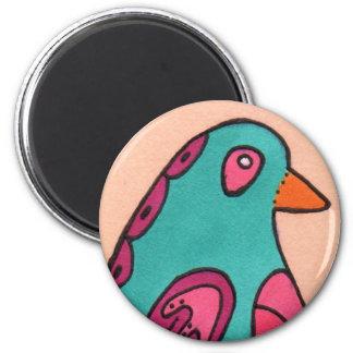 Fred the Bird 6 Cm Round Magnet