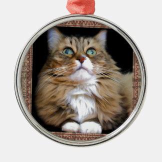 Fred the Cat Premium Round Ornament