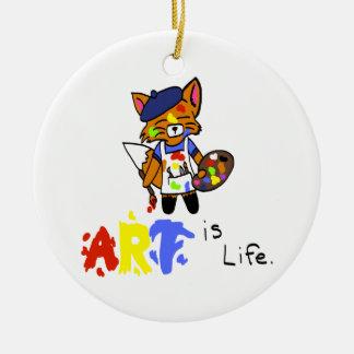 Fred the Fox- Artist Christmas Ornament