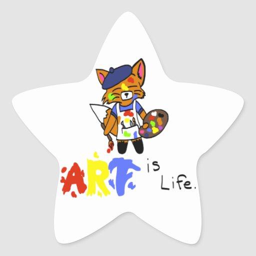 Fred the Fox- Artist Stickers