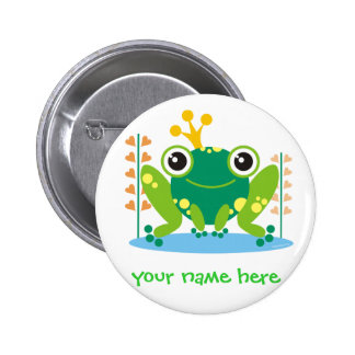 fred the froggy 6 cm round badge