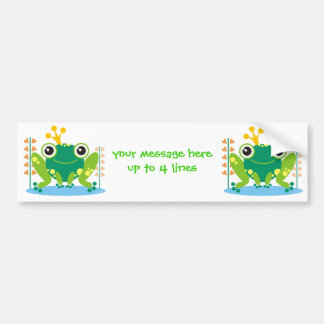 fred the froggy bumper sticker