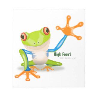 """Freddie Frog """"High Four"""" Notepad"""