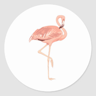 Freddy Flamingo Classic Round Sticker