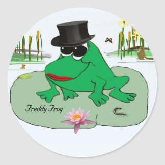 Freddy Frog Round Sticker