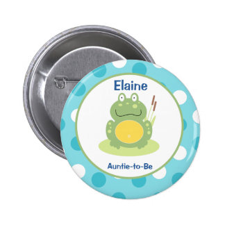 Freddy the Frog Customized name tag Button