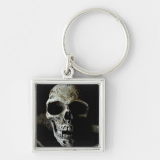 Freddys sister Silver-Colored square key ring