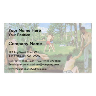 Frederic Bazille- Bathers (Summer Scene) Double-Sided Standard Business Cards (Pack Of 100)