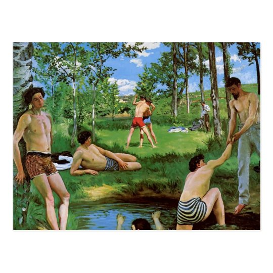 Frederic Bazille- Bathers (Summer Scene) Postcard