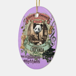 Frederic Chopanda Panda Animal Composer Chopin Christmas Ornament