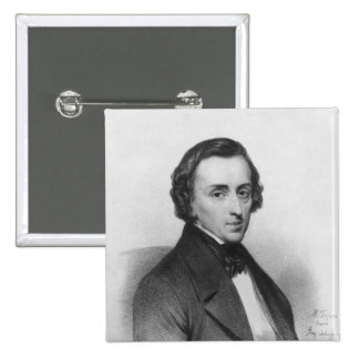 Frederic Chopin, after Ary Scheffer 15 Cm Square Badge