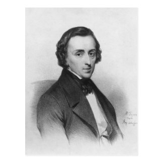 Frederic Chopin, after Ary Scheffer Postcard