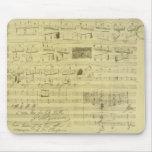 Frederic Chopin manuscript mousepad