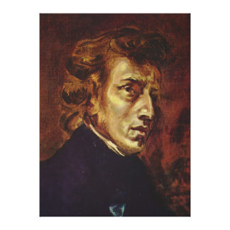 Frederic Chopin Portrait by Eugene Delacroix Stretched Canvas Print