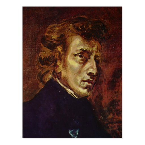 Frederic Chopin Portrait by Eugene Delacroix Post Card