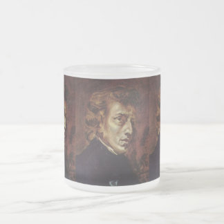 Frédéric Chopin Portrait Frosted Glass Coffee Mug