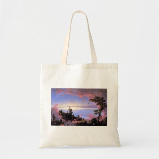 Frederic Edwin Church - Above the clouds at sunris Canvas Bag
