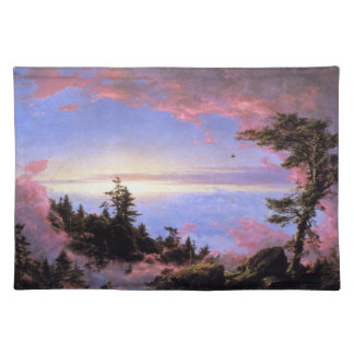 Frederic Edwin Church - Above the clouds at sunris Place Mat