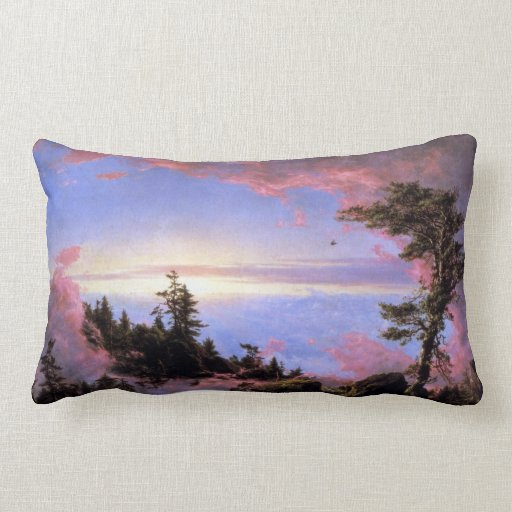 Frederic Edwin Church - Above the clouds at sunris Throw Pillows