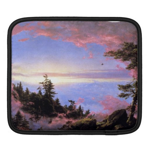 Frederic Edwin Church - Above the clouds at sunris Sleeve For iPads