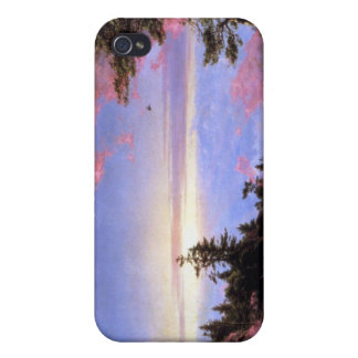 Frederic Edwin Church - Above the clouds at sunris Cases For iPhone 4