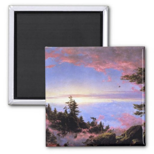 Frederic Edwin Church - Above the clouds at sunris Magnet