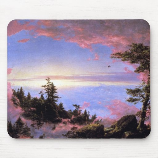 Frederic Edwin Church - Above the clouds at sunris Mouse Pad