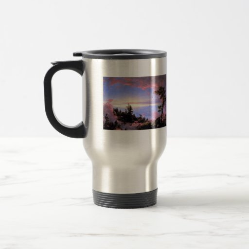 Frederic Edwin Church - Above the clouds at sunris Coffee Mug