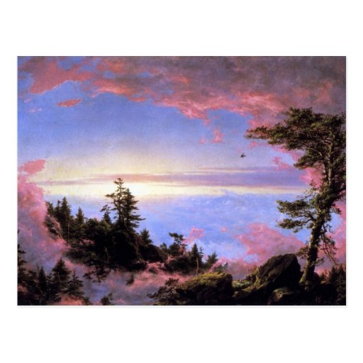 Frederic Edwin Church - Above the clouds at sunris Postcard
