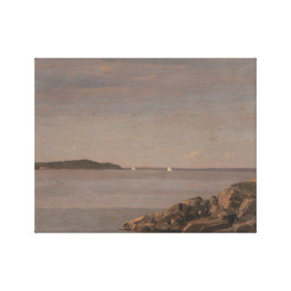 Frederic Edwin Church - Mt. Desert Island Canvas Print