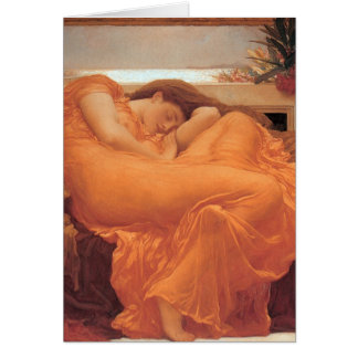 Frederic Leighton Flaming June Card
