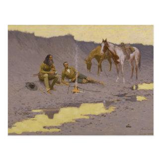 Frederic Remington - A New Year on the Cimarron Postcard