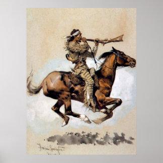 "Frederic Remington ""Buffalo Hunter Spitting Bullet Poster"