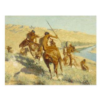 Frederic Remington - Episode of the Buffalo Gun Postcard