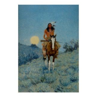 Frederic Remington s The Outlier 1909 Posters